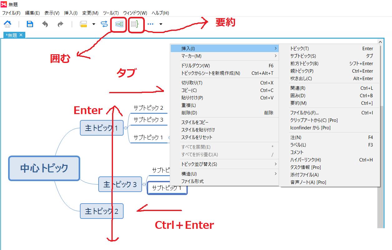 マインドマップの無料ソフト「Xmind」の使い方